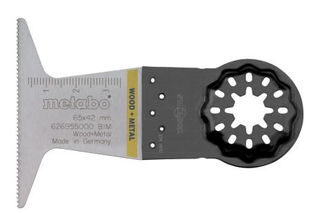 Hoja de sierra de inmersión, madera/metal, BiM, 65 mm (626955000)