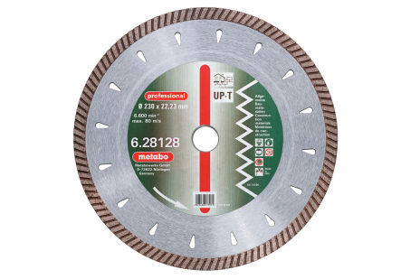 "Disco de tronzar de diamante, 230x2,7x22,23mm, ""professional"", ""UP-T"", turbo, universal (628128000)"