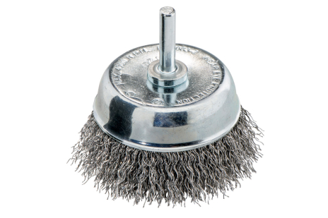 Cepillo de copa 75x0,30 mm/ 6 mm, acero ondulado (630552000)