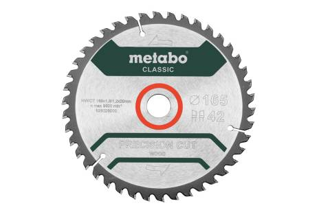 "Hoja de sierra ""precision cut wood - classic"""", 165x20 D42 DI 5° (628026000)"
