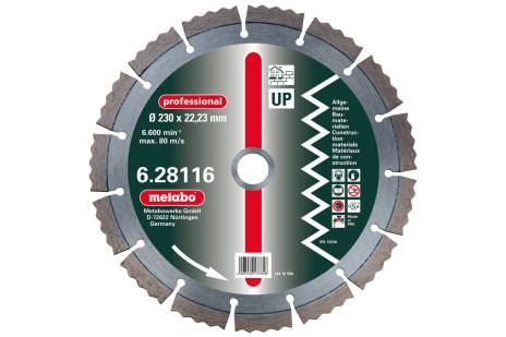 "2 discos de cortar diamantados 125x2,15x22,23mm, ""professional"", ""UP"", Universal (628113000)"