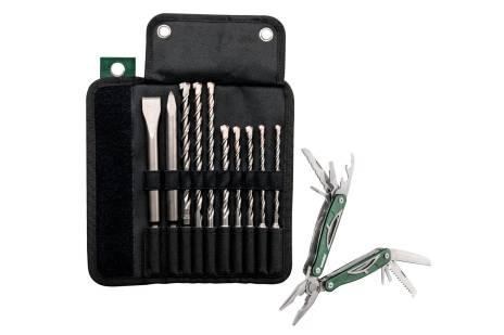 Bolso de rodillos con brocas / cinceles SDS-plus Pro 4, 10 piezas, set (631690000)