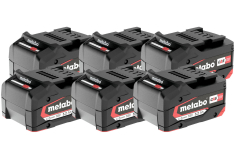 Set de 6 baterías Li-Powerde 18 V/5,2 Ah (625152000)