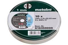 10 discos de cortar SP 125x1,0x22,23 Inox, TF 41 (616359000)