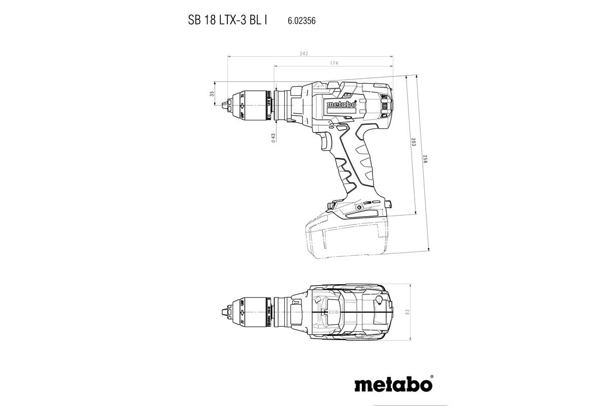 SB 18 LTX-3 BL I  (602356660) Perceuse à percussion sans fil