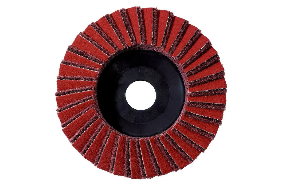 5 plateaux abrasifs à lamelles combinés, 125 mm, moyen, pour meuleuse d'angle (626416000)