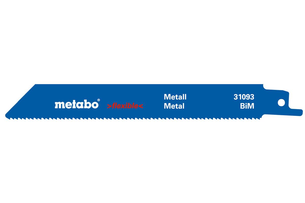5 lames de scies sabres, métal, flexible, 150 x 0,9 mm (631491000)
