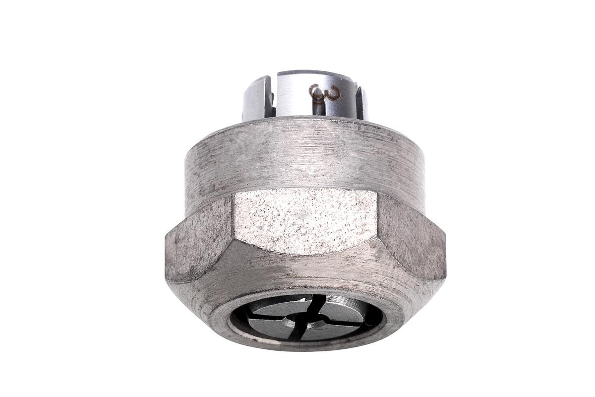 """Pince de serrage 1/4"""" avec écrou de serrage (à 2 pans), GS (630821000)"""