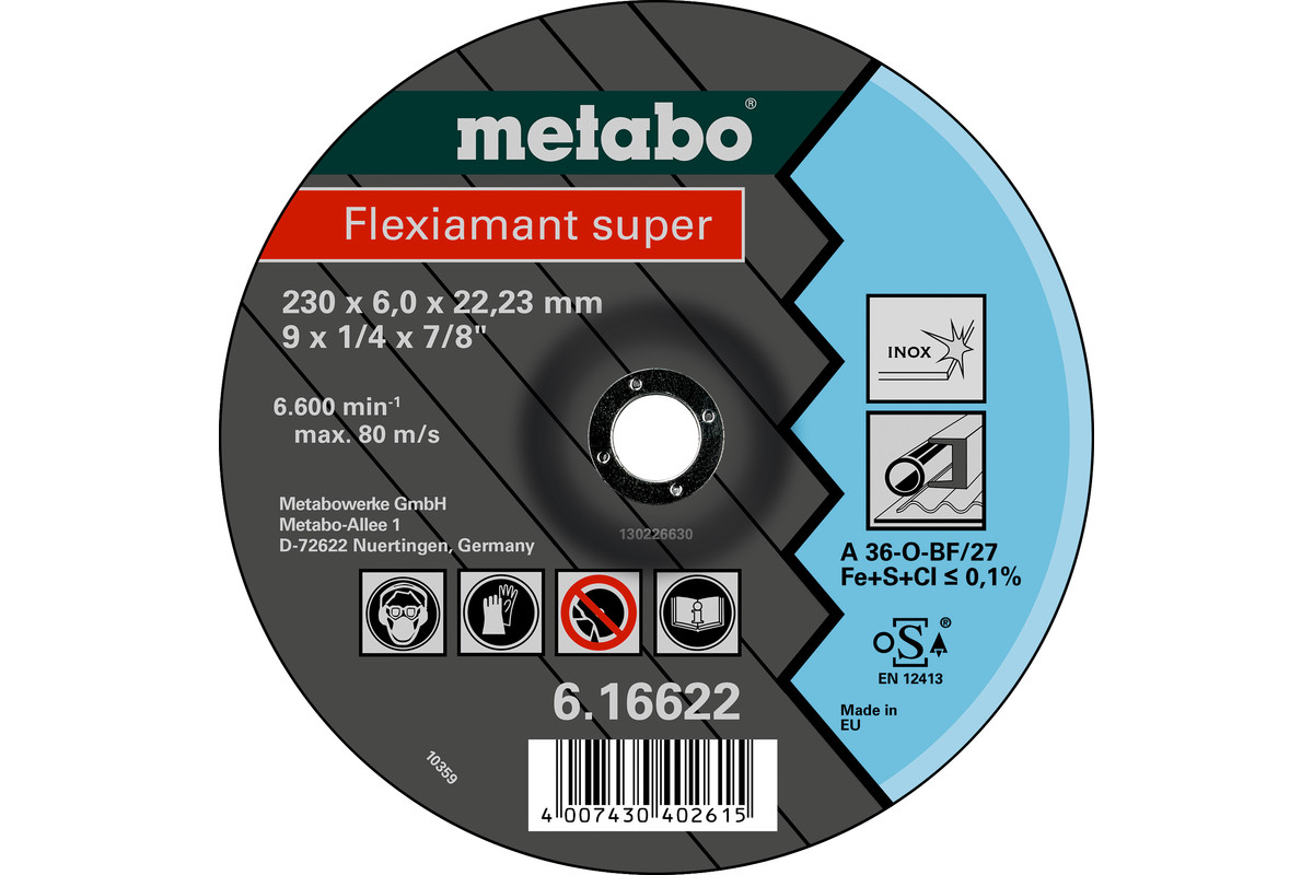 Flexiamant super 230 x 6,0 x 22,23 inox, SF 27 (616622000)