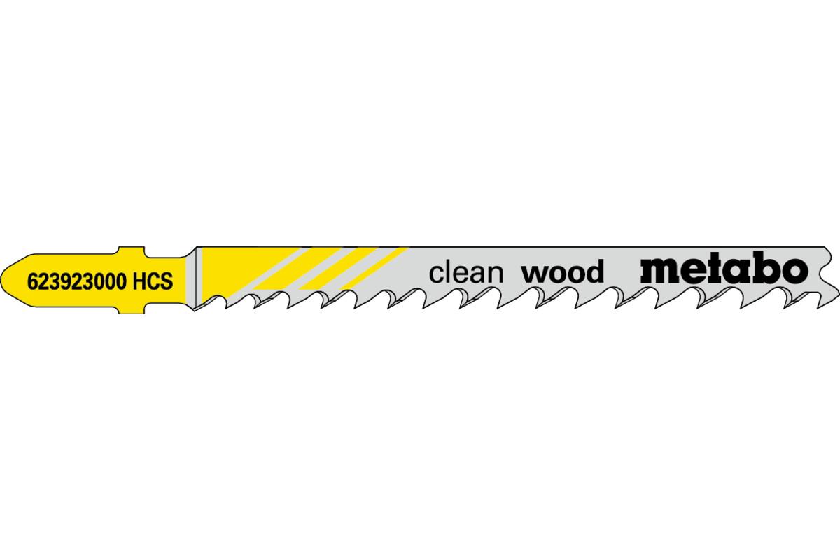 5 lames de scie sauteuse « clean wood » 74 mm/progr. (623923000)
