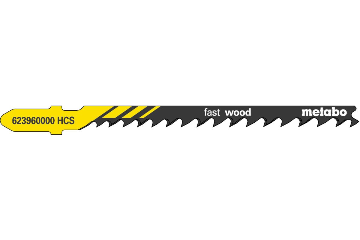 5 lames de scie sauteuse « fast wood » 74 mm/progr. (623960000)