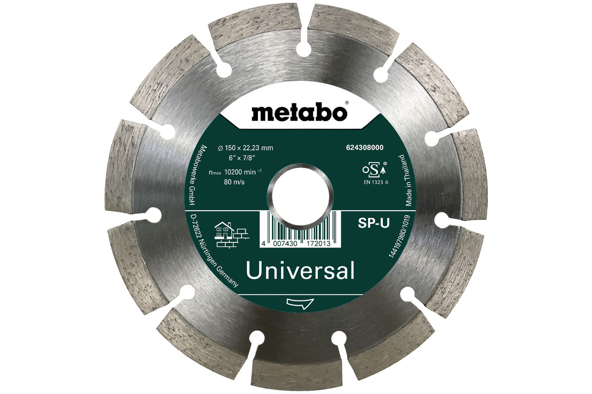 Meule de tronçonnage diamantée - SP - U, 150x22,23 mm (624308000)