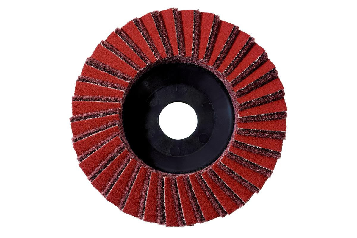 5 plateaux abrasifs à lamelles combinés 125 mm, moyens, meuleuses d'angle (626416000)