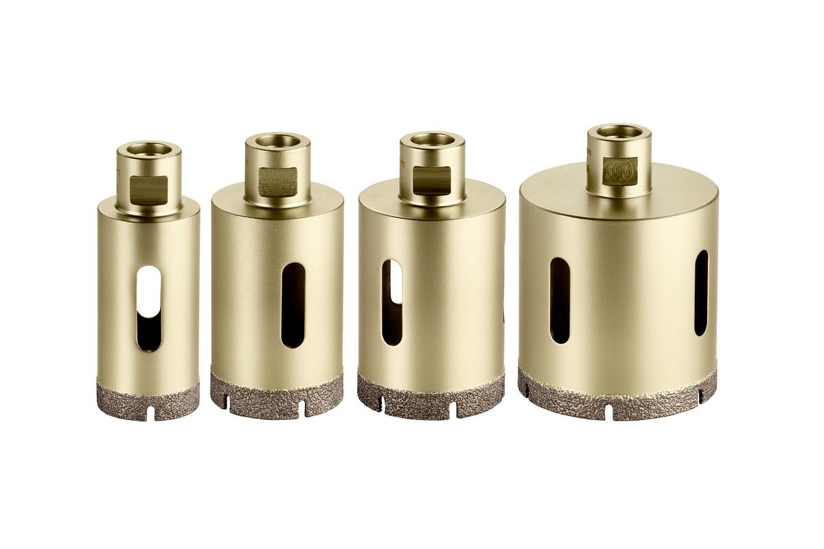 Set de couronnes diamantées pour carrelage «Dry», 4 pièces, M14 (628319000)