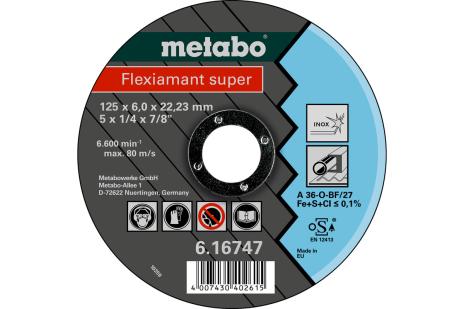 Flexiamant super 125 x 6,0 x 22,23 inox, SF 27 (616747000)