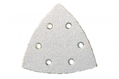25 feuilles abrasives auto-agrippantes 93 x 93 mm, P 100, peinture, pour ponceuse à patin triangulaire (625684000)