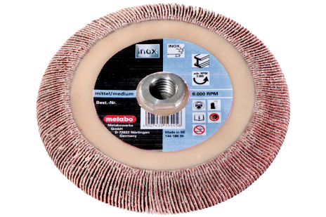 Roue abrasive à lamelles 125 x 8 x M14 P 40 CER (626470000)