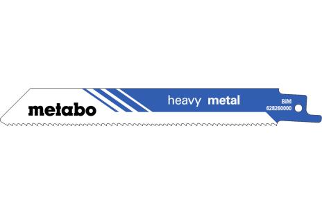 5 lames de scies sabres, métal, profes.,150 x 1,25 mm (628260000)