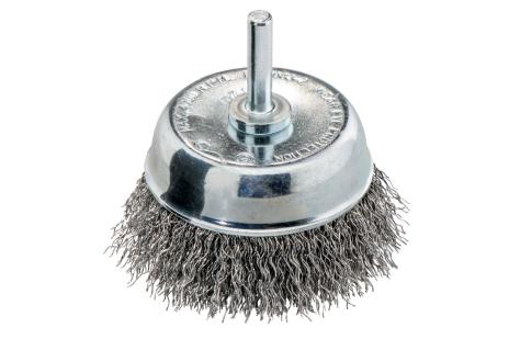 Brosse boisseau 75x0,30 mm/ 6 mm, acier ondulé (630552000)