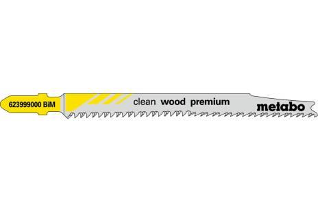 5 lames de scie sauteuse « clean wood premium » 93/ 2,2 mm (623999000)