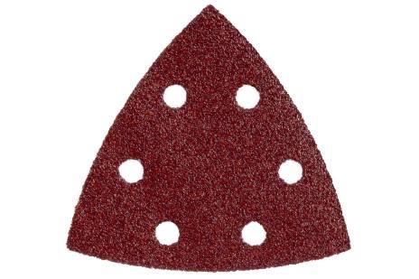 25 feuilles abrasives auto-agrippantes 93 x 93 mm, P 80, B+M, pour ponceuse à patin triangulaire (624982000)
