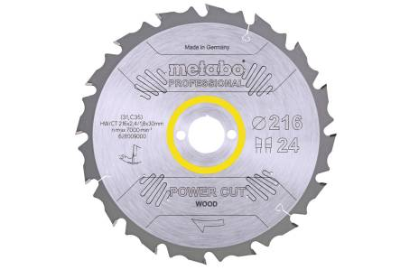 Lame de scie « power cut wood - professional », 216x30, Z24 WZ 5° nég. (628009000)