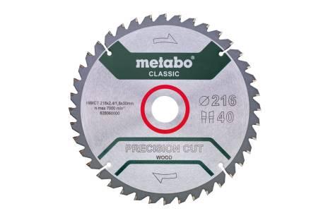 Lame de scie « precision cut wood - classic », 216x30, Z40 WZ 5° nég. (628060000)