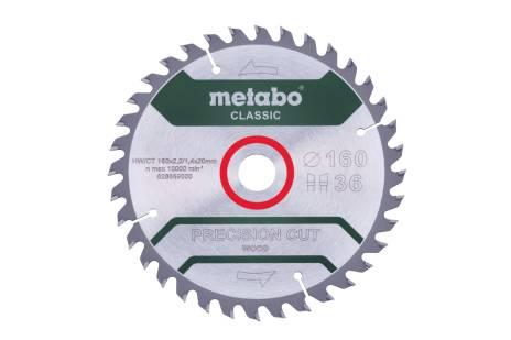 Lame de scie « precision cut wood - classic », 160x20 Z36 WZ 10° /B (628659000)