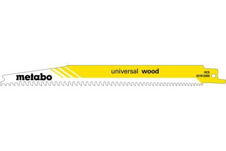 2 lames de scie sabre « universal wood » 200 x 1,25 mm (631910000)