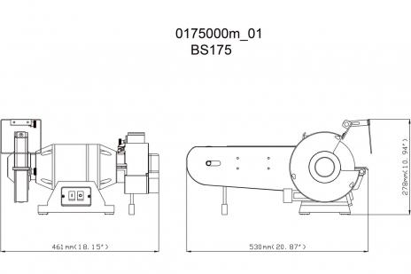 BS 175 (601750000) Touret à meuler