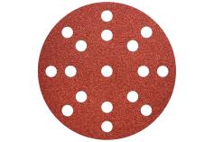 50 feuilles abrasives auto-agrippantes 125 mm, P40, bois + métal, « Multihole » (626848000)