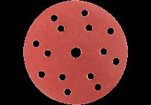 Tépőzáras csiszolólap, átmérő: 150 mm, többszörös lyukasztással