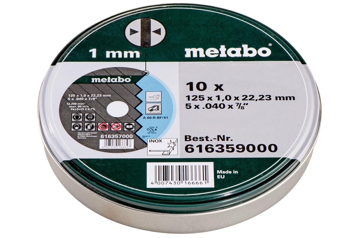 """10 db """"SP"""" darabolótárcsa 125x1,0x22,23 Inox, TF 41 (616359000)"""