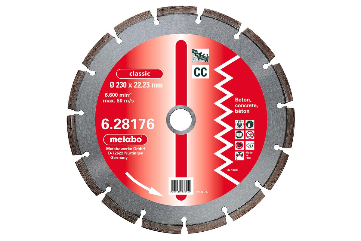 """Gyém. vágót., 125x2,15x22,23mm, """"classic"""", """"CC"""", beton (628173000)"""