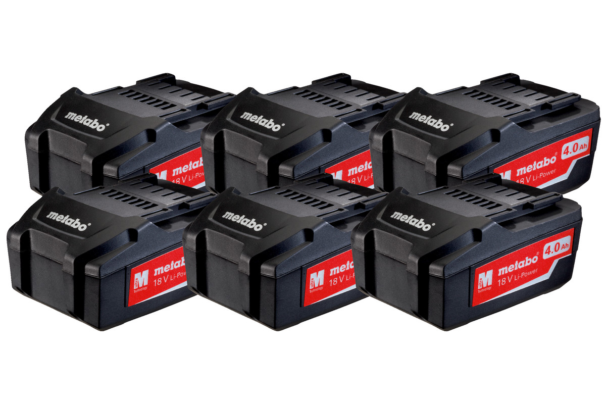 Készlet: 6 db Li-Power akkuegység 18 V/4.0 Ah (625151000)