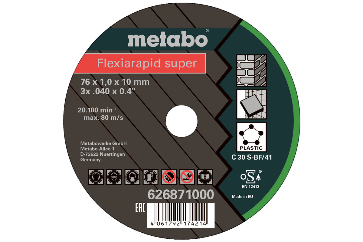 5 db Flexiarapid Super 76x1,0x10,0 mm Universal (626871000)