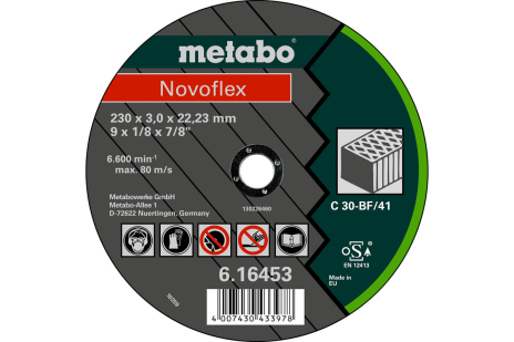 Novoflex 230x3,0x22,23 kő , TF 42 (616479000)