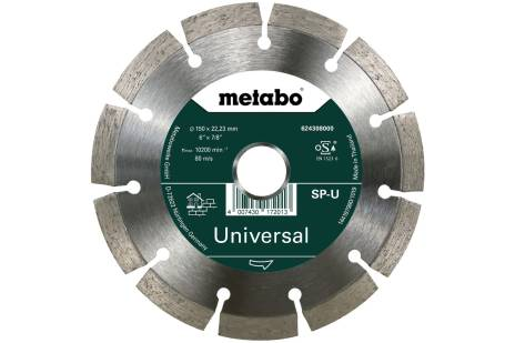 Gyémánt darabolótárcsa - SP - U, 150x22,23 mm (624308000)