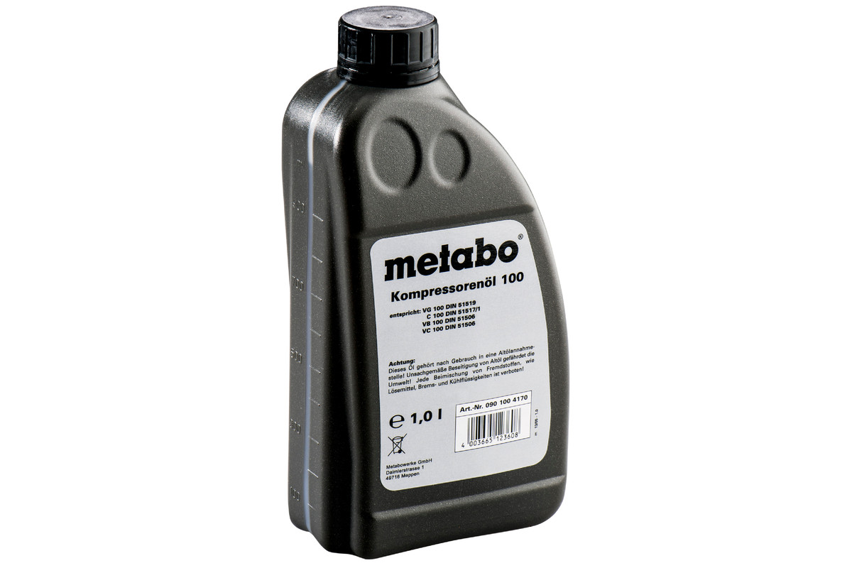Olio da 1 litro, per compressori a pistone (0901004170)