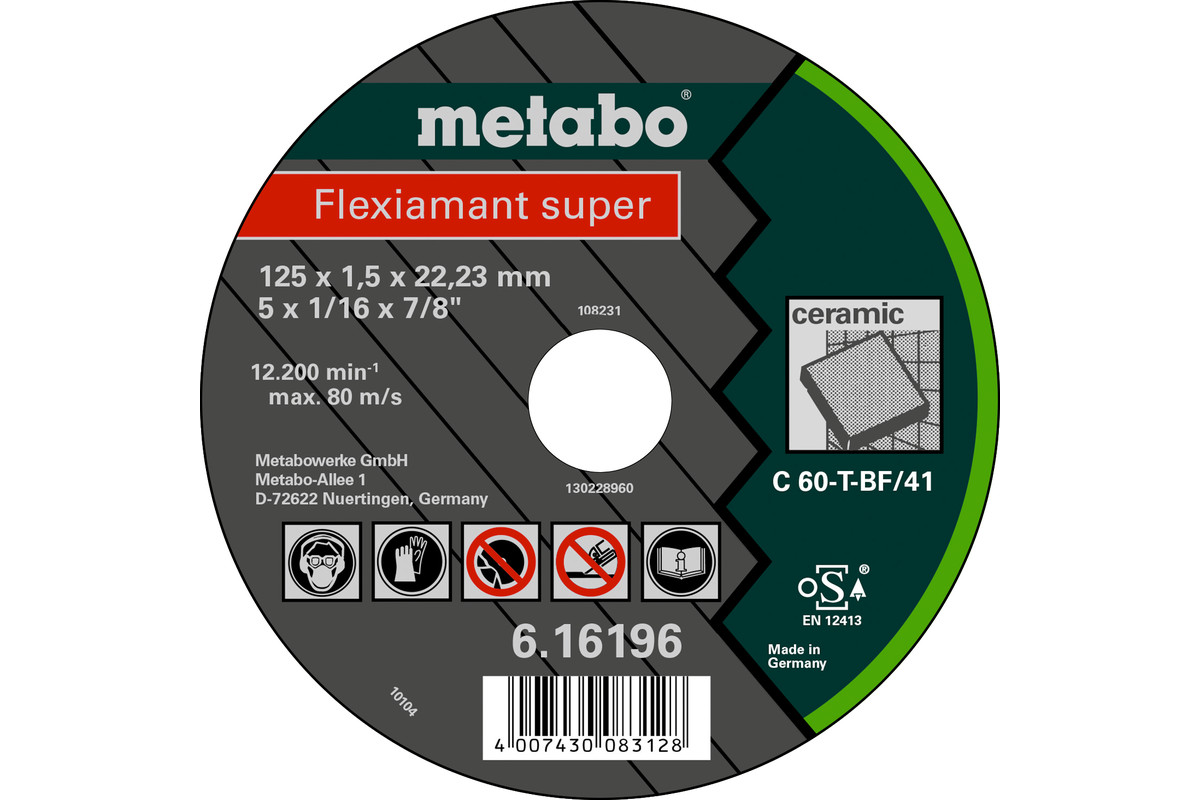 Flexiamant super, 125x1,5x22,23, ceramica, TF41 (616196000)