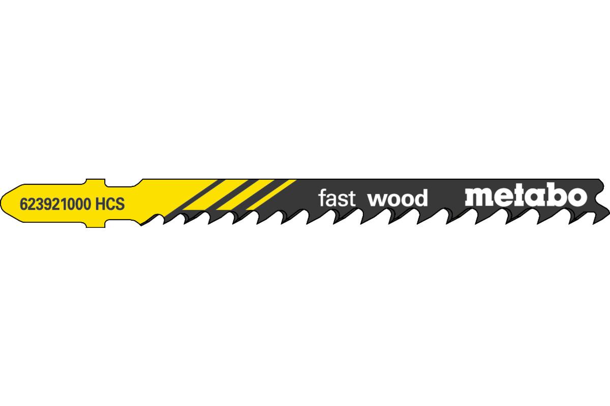 5 lame per seghetti alternativi, legno, profess. 74 mm/progr. (623921000)
