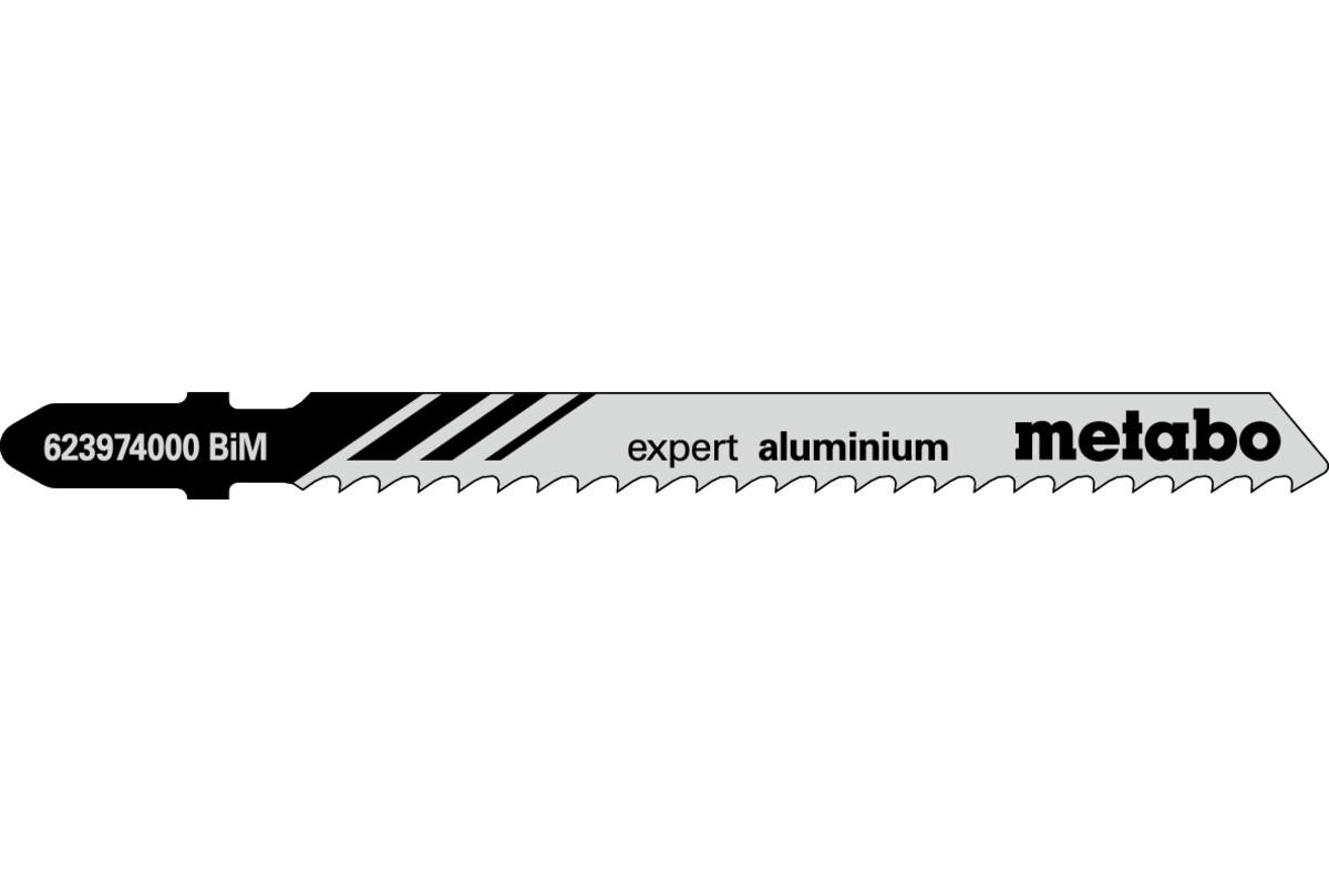 5 lame per seghetti alternativi, alluminio + metalli non ferrosi, expert, 75/3,0 mm (623974000)