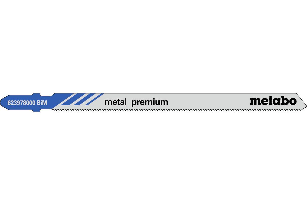 5 lame per seghetti alternativi, metallo, profess., 106/ 1,1 mm (623978000)