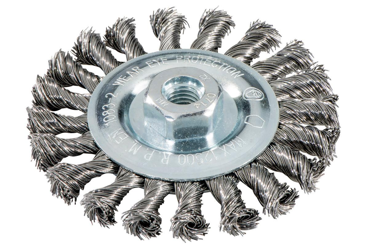 Spazzola rotonda 125x0,5x10 mm/ M14 acciaio intrecciato (626771000)