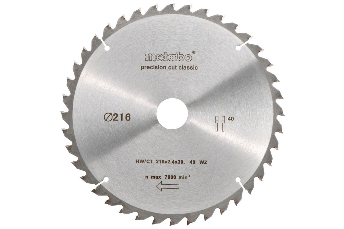 Lama per seghe circolari HW/CT 216x30, 40 DA 5°neg.,classic (628060000)
