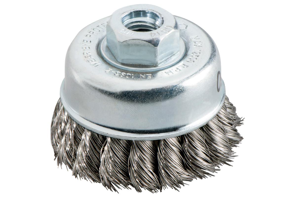 """Spazzola a tazza 65x0,5 mm/ 5/8"""", acciaio intrecciato (623804000)"""