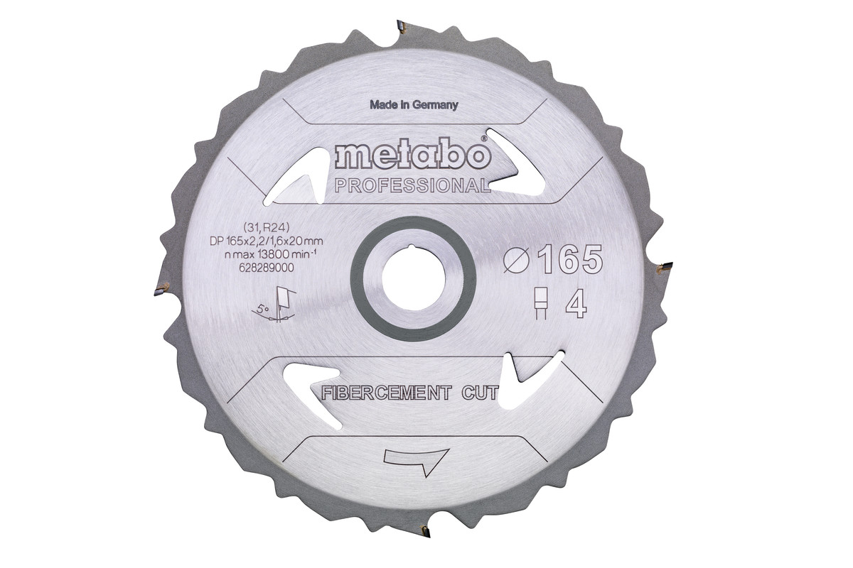 """Lama """"fibercement cut - professional"""", 165x20 Z4 DFZ 5° (628289000)"""