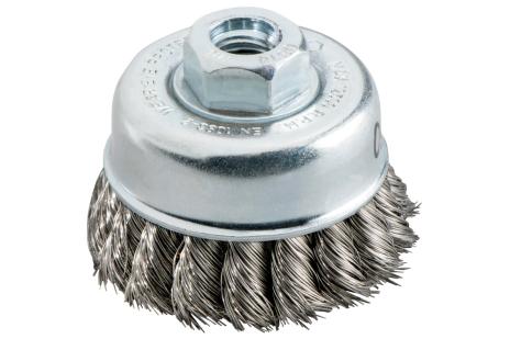 Spazzola a tazza 80x0,5 mm/ M 14, acciaio intrecciato (623710000)