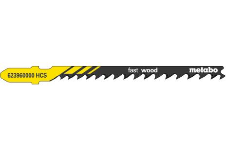 5 lame per seghetti alternativi, legno, profess. 74 mm/progr. (623960000)