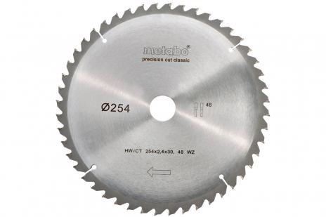 Lama per seghe circolari HW/CT 254x30, 48 DA 5°neg.,classic (628061000)